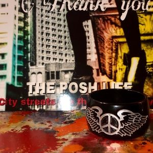 boutique show bought Jewelry - Wings in Peace Thick Bangle